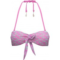 Bandeau Bikini Top In Fun Summer Dessins, Sold In Canvas Bag