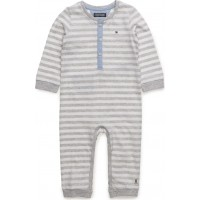 Tommy Stripe Baby Boy Coverall L/S