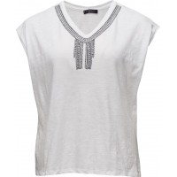 Beaded Cotton T-Shirt
