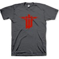 Wolfenstein: The New Order T-Shirt Logo Grå