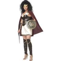 Spartansk Krigare Prinsessa Maskeraddräkt