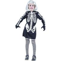 Skelett Klänning Maskerad Barn