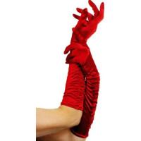 Röda Långa Handskar