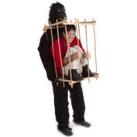 Gorilla Bärandes på Bur Maskeraddräkt