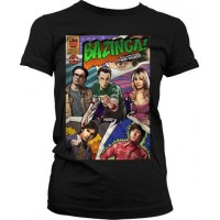 Big Bang Theory - Bazinga Comic Cover Dam T-Shirt