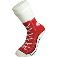 Silly Socks Baseball Röd