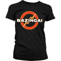 Big Bang Bazinga Underground Logo Girly T-Shirt