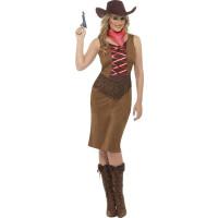 Fransig Cowgirl-kostym