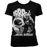 Batman Arrrgh Fel Nummer Dam T-shirt