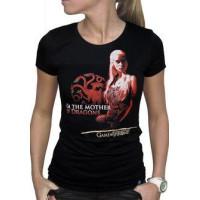 GoT Mother of Dragons Dam T-Shirt Svart