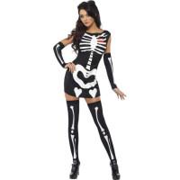 Fever Sexig Skelett-kostym