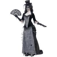 Spökstad svart änka-dräkt