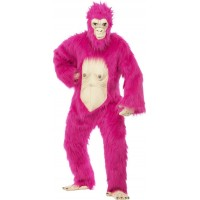 Deluxe Rosa gorilla-dräkt