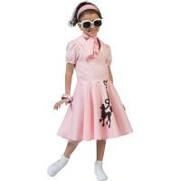 50-tals Klänning Barn Maskeraddräkt - Small