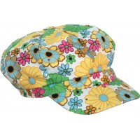 60-tals Flower Power Keps - One size