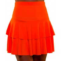 80-tals Neon Volangkjol Orange - X-Small/Small