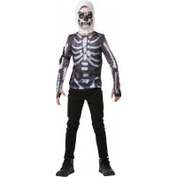 Fortnite Skull Trooper Teen Budget Maskeraddräkt - Small