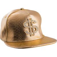 Guldkeps med Dollartecken - One size