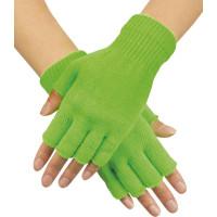 Handskar Fingerlösa Neongröna - One size