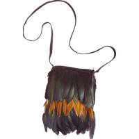 Indian Handväska med Fjädrar