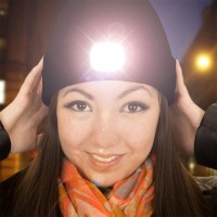 LED Mössa Svart - Svart