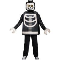 LEGO Skelett Barn Maskeraddräkt - Small