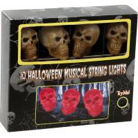 Blinkande Ljusslinga med Musik Dödskallar