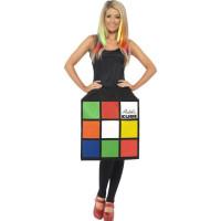 Rubiks Kub Klänning Maskeraddräkt - Small