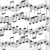 Servetter Musik Noter - 16-pack