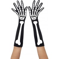 Skeletthandskar Långa - One size