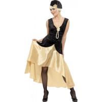 20-tals Gatsby Girl Maskeraddräkt - Medium