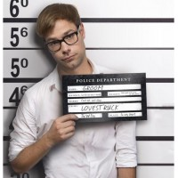 Arresterad Fotoskylt