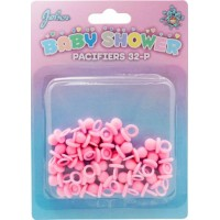 Babyshower Nappar Rosa Bordsdekoration - 32-pack