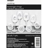 Glasdekorationer Bröllop - 16-pack