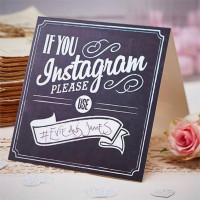 Bordsskyltar Bröllop If You Instagram - 5-pack