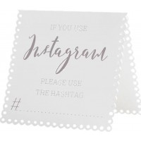Bordsskyltar Bröllop If You Use Instagram - 5-pack