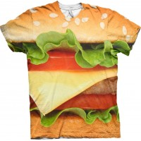 Burger Allover T-shirt - Small