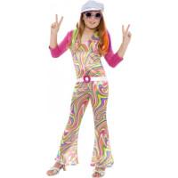 60-tals Hippieflicka Barn Maskeraddräkt - Medium