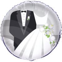 Folieballong Bröllop Silver