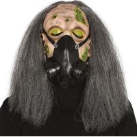 Gasmask med Hår Plastmask