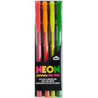 Gelpennor Neon - 4-pack
