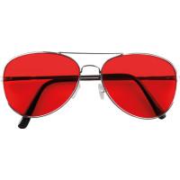 Glasögon Retro Röd