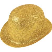 Glittrande Bowlerhatt Guld - One size