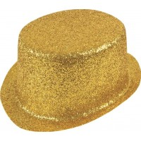Glittrande Höghatt Guld - One size