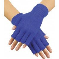 Handskar Fingerlösa Blåa - One size