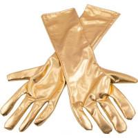 Långa Handskar Metallicguld - One size