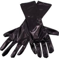Långa Handskar Metallicsvart - One size