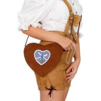 Handväska Tyroler Blått Hjärta