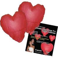 Himmelslyktor Hjärta - 5-pack
