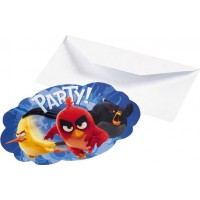 Inbjudningskort Angry Birds Movie - 8-pack